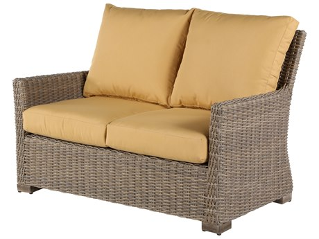 Windward Design Group Oxford Deep Seating Aluminum Wicker Loveseat