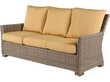 Windward Design Group Oxford Deep Seating Aluminum Wicker Sofa