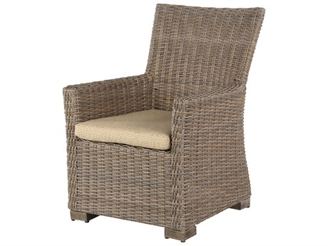 Windward Design Group Oxford Deep Seating Aluminum Wicker Dining Arm Chair