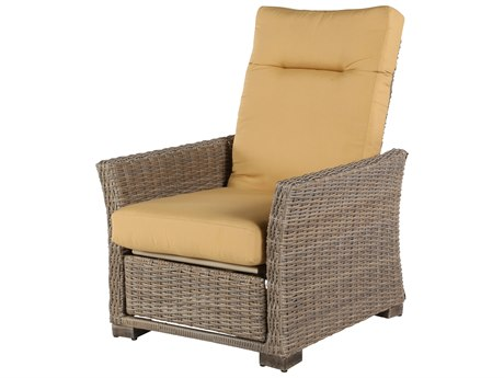 Windward Design Group Oxford Deep Seating & Dining Wicker Cushion Recliner