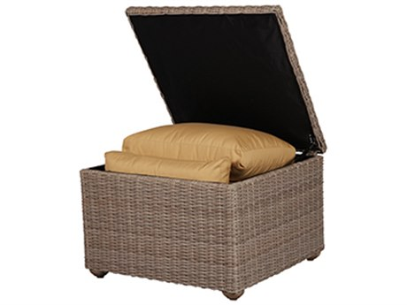 Windward Design Group Oxford Deep Seating Driftwood Wicker Storage Unit