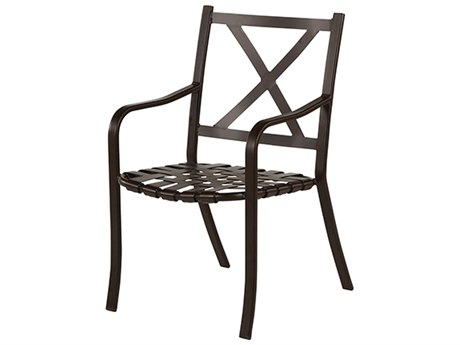 Windward Design Group Lakeside Strap Aluminum Dining Arm Chair