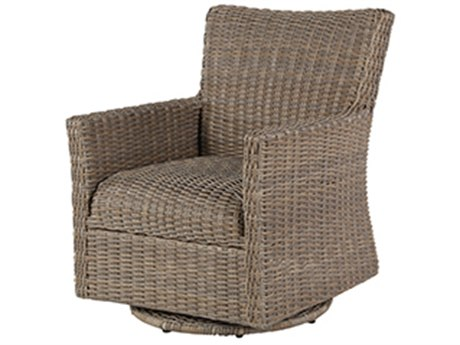 Windward Design Group Oxford Woven Foam Aluminum Lounge Chair Swivel Glider