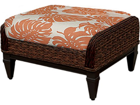 Windward Design Group Havana Deep Seating Caramel Wicker Greco Frame Ottoman