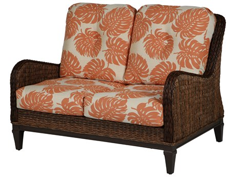 Windward Design Group Havana Deep Seating Caramel Wicker Greco Frame Loveseat