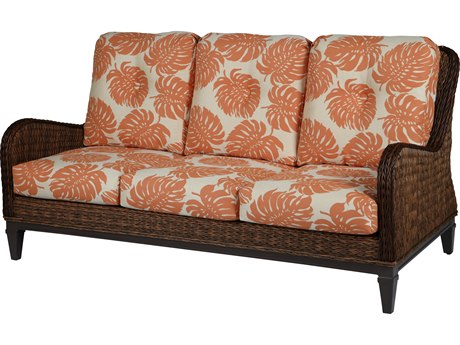 Windward Design Group Havana Deep Seating Caramel Wicker Greco Frame Sofa