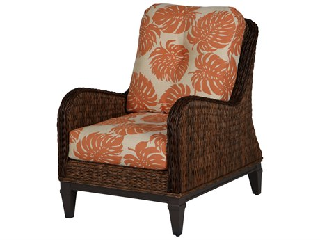 Windward Design Group Havana Deep Seating Caramel Wicker Greco Frame Lounge Chair