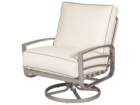 Windward Design Group Skyway Deep Seating Aluminum Cushion Lounge Chair Swivel Rocker WINW6157