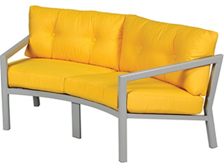 Windward Design Group Madrid Deep Seating Aluminum Crescent Loveseat