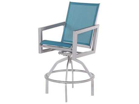 Windward Design Group Madrid Sling Aluminum Swivel Bar Chair