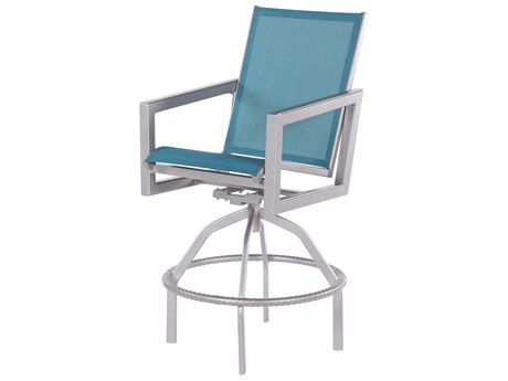 Windward Design Group Madrid Sling Aluminum Swivel Bar Chair