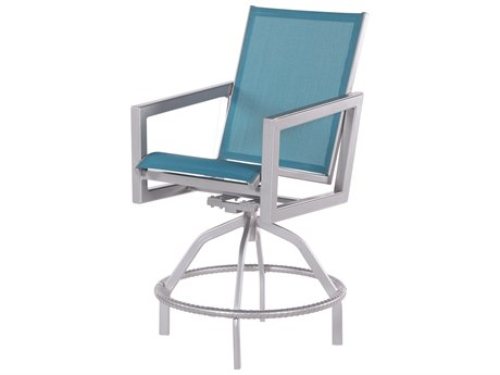 Windward Design Group Madrid Sling Aluminum Swivel Balcony Chair