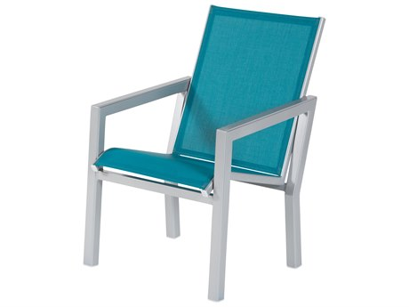Windward Design Group Madrid Sling Aluminum Dining Arm Chair