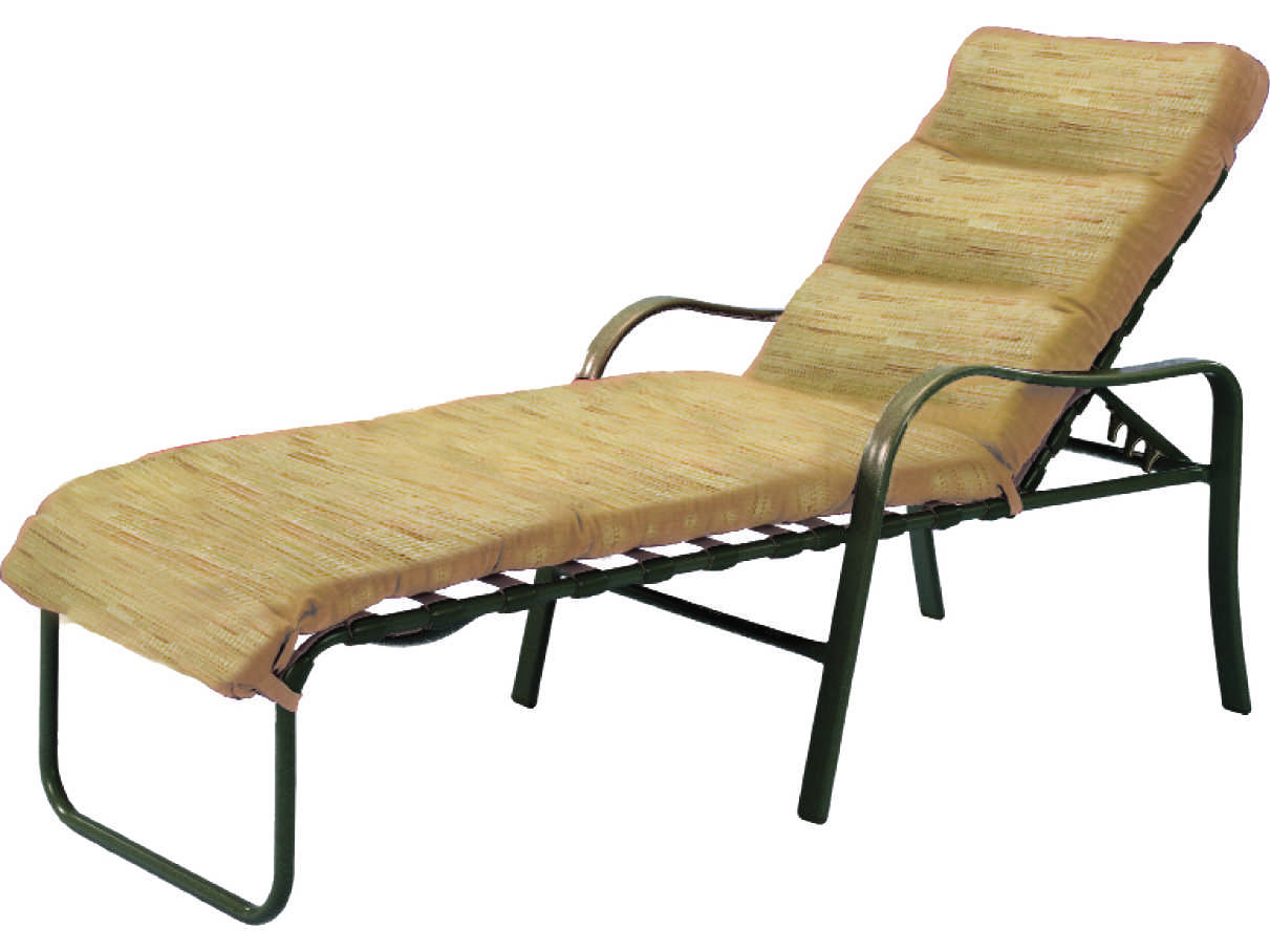 Windward design group sonata cushion aluminum chaise for Chaise lounge construction