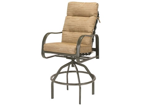 Windward Design Group Sonata Cushion Aluminum Swivel Bar Chair