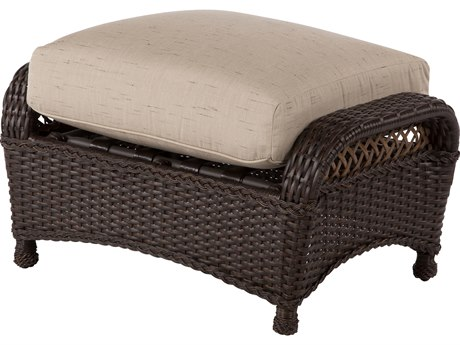 Windward Design Group Hannah Deep Seating Aluminum Wicker Ottoman