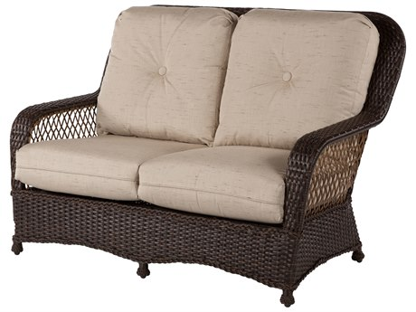 Windward Design Group Hannah Deep Seating Aluminum Wicker Loveseat
