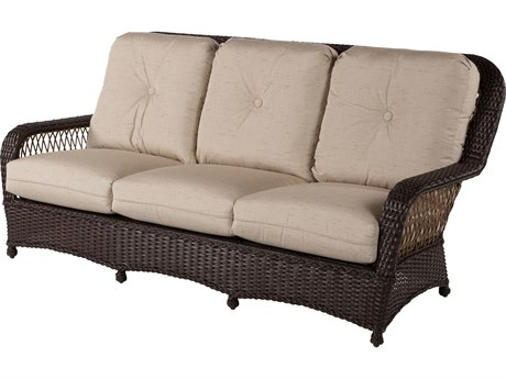 Windward Design Group Hannah Deep Seating Aluminum Wicker Sofa