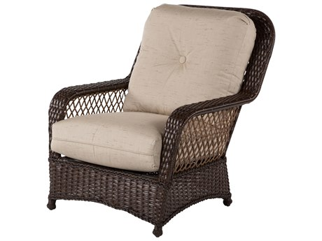 Windward Design Group Hannah Deep Seating Aluminum Wicker Lounge Chair