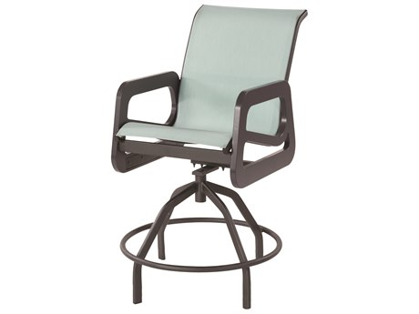 Windward Design Group Malibu Sling Marine Grade Polymer Swivel Bar Chair
