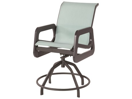 Windward Design Group Malibu Sling Marine Grade Polymer Swivel Balcony Chair