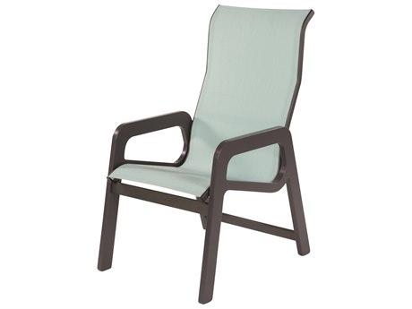 Windward Design Group Malibu Sling Marine Grade Polymer High Back Dining Arm Chair
