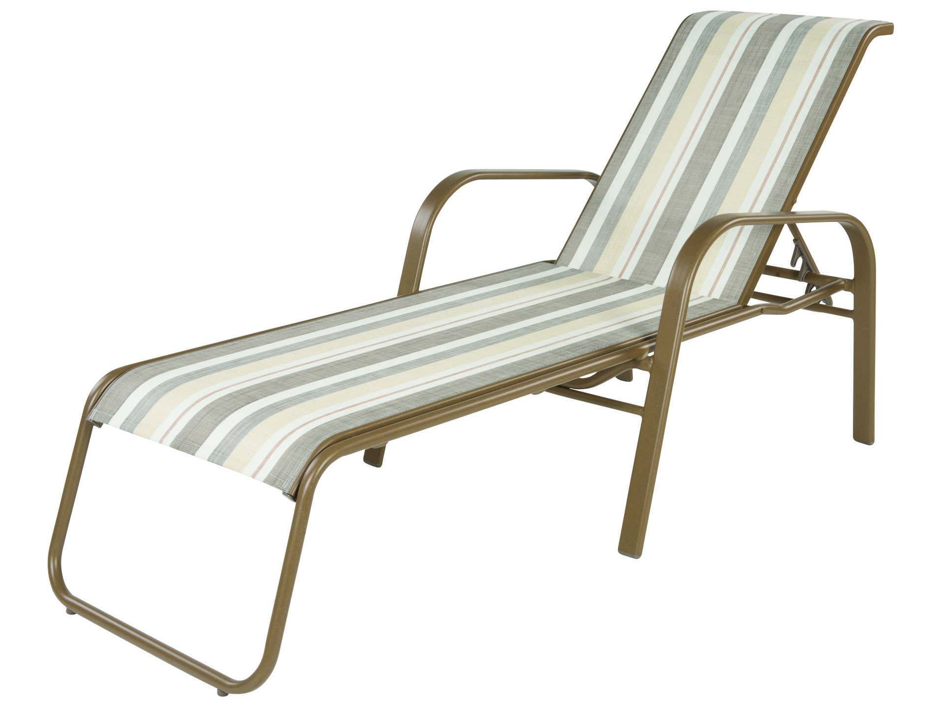 Windward design group anna maria sling aluminum chaise for Aluminum sling chaise lounge