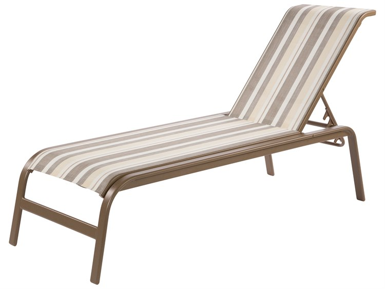 Windward Design Group Anna Maria Sling Aluminum Chaise Lounge No Arms PatioLiving