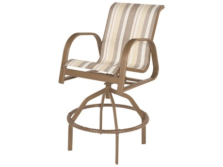 Windward Design Group Anna Maria Sling Aluminum Swivel Bar Chair
