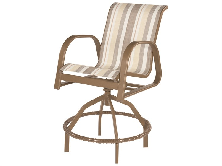 Windward Design Group Anna Maria Sling Aluminum Swivel Balcony Chair PatioLiving