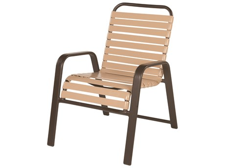 Windward Design Group Anna Maria Strap Aluminum Dining Chair