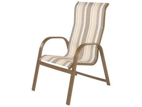 Windward Design Group Anna Maria Sling Aluminum High Back Dining Chair