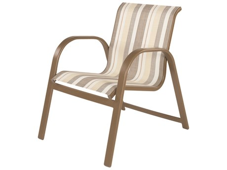 Windward Design Group Anna Maria Sling Aluminum Dining Arm Chair