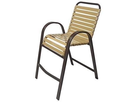 Windward Design Group Anna Maria Strap Aluminum Bar Chair
