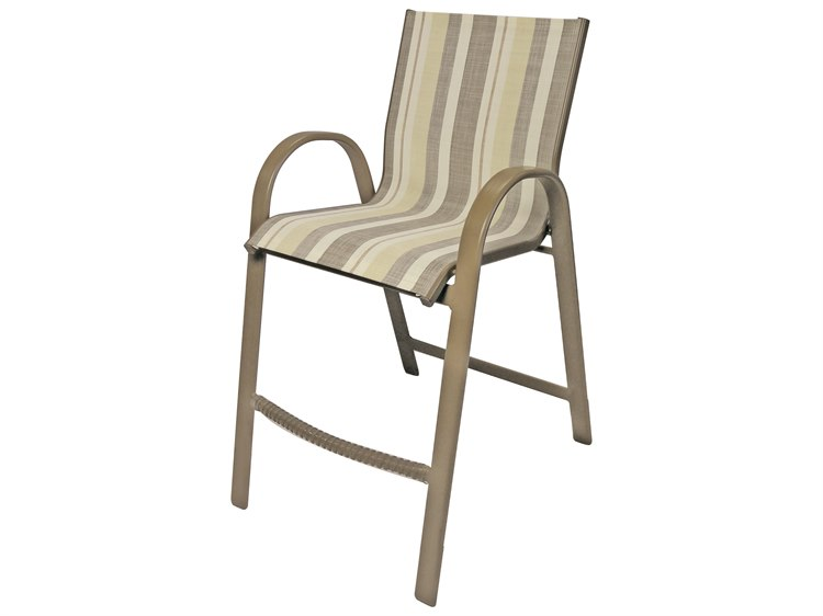 Windward Design Group Anna Maria Sling Aluminum Bar Chair PatioLiving