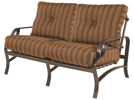 Windward Design Group Eclipse Deep Seating Cast Aluminum Cushion Loveseat