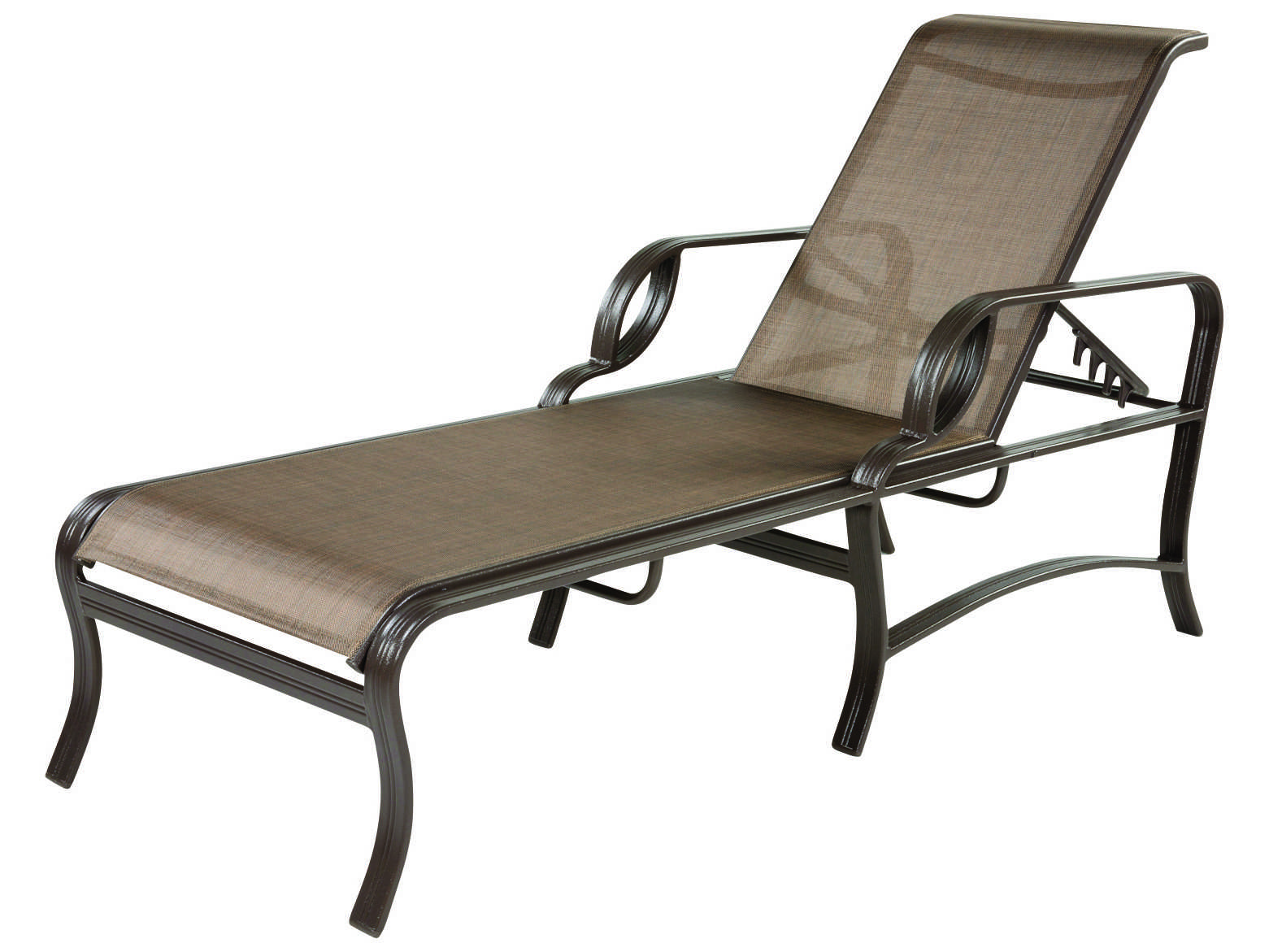 Windward design group eclipse sling cast aluminum chaise for Cast aluminum chaise lounge