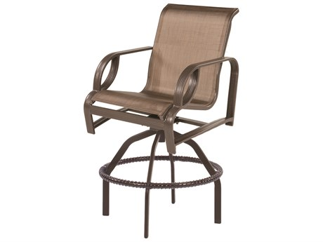 Windward Design Group Eclipse Sling Cast Aluminum Swivel Bar Chair