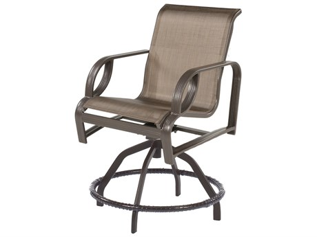 Windward Design Group Eclipse Sling Cast Aluminum Swivel Balcony Chair