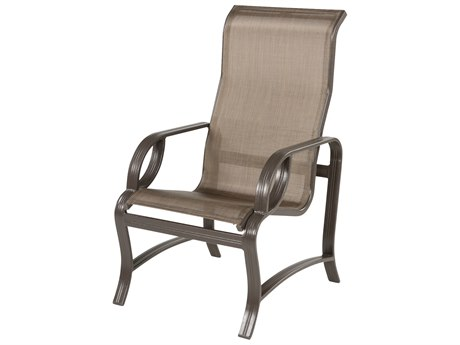 Windward Design Group Eclipse Sling Cast Aluminum High Back Dining Chair
