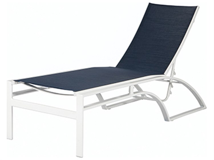 Windward Design Group Phoenix Sling Aluminum Armless Adjustable Chaise Lounge PatioLiving