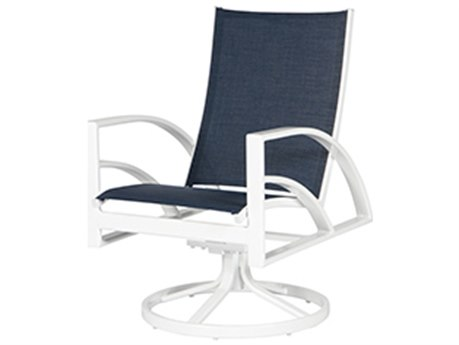 Windward Design Group Phoenix Sling Aluminum Swivel Rocker Dining Arm Chair