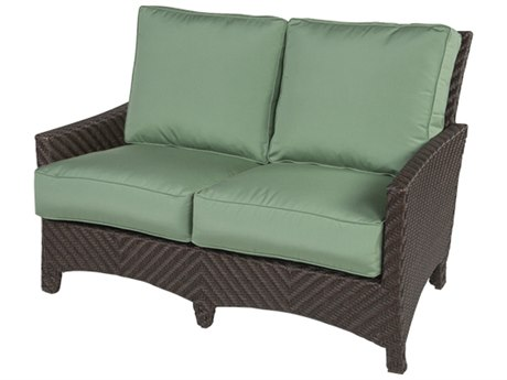 Windward Design Group Palmer Modular Deep Seating Aluminum Wicker Loveseat