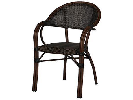 Windward Design Group Cane Stackable Wicker Dining Arm Chair