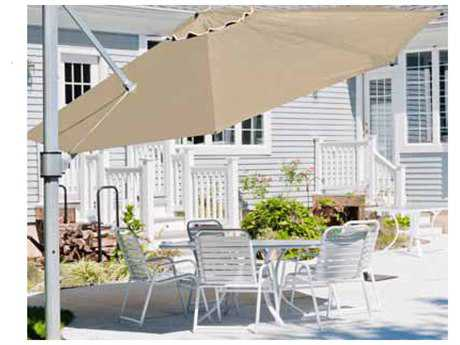 Windward Design Group Oasis Catilever Aluminum 11 Feet Wide Octagon Crank Umbrella