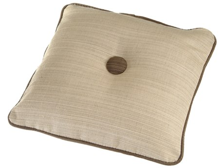 Windward Design Group Throw Pillow Contrasting Welt and Button 16 x 16
