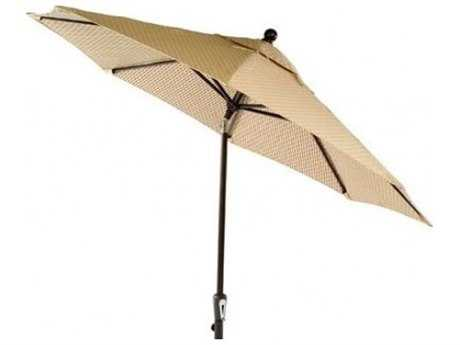 Windward Design Group Eclipse Market Umbrella 8 Aluminum Ribs in Wood Grain