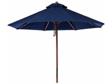 Windward Design Group Fiji Wood Market 9 Feet Wide Pulley & Pin Umbrella