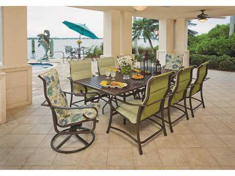 Windward Design Group West Wind Sling Aluminum Dining Set