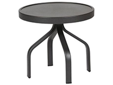 Windward Design Group Delray Smooth Aluminum 18 Round Tea Table